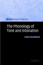 Cover of: The phonology of tone and intonation