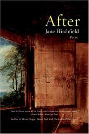 Cover of: After | Jane Hirshfield