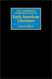 Cover of: The Cambridge introduction to early American literature