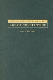 Cover of: The Cambridge companion to the Age of Constantine |