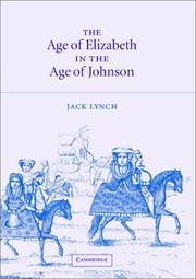 Cover of: The age of Elizabeth in the age of Johnson