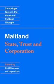 Cover of: State, trust, and corporation