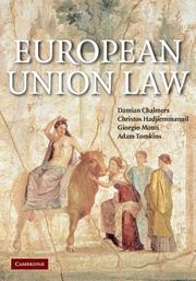 Cover of: European Union Law | Damian Chalmers