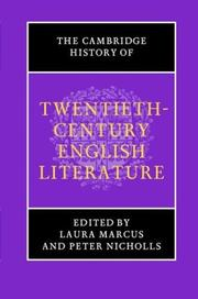 Cover of: The Cambridge history of twentieth-century English literature | edited by Laura Marcus and Peter Nicholls.
