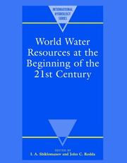 Cover of: World Water Resources at the Beginning of the Twenty-First Century (International Hydrology Series) |