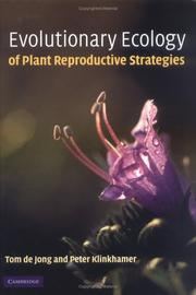 Cover of: Evolutionary Ecology of Plant Reproductive Strategies | Tom de Jong