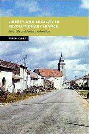 Cover of: Liberty and locality in revolutionary France