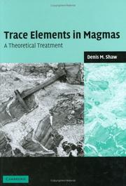 Cover of: Trace Elements in Magmas