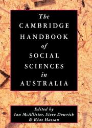 Cover of: The Cambridge handbook of the social sciences in Australia |