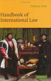 Cover of: Handbook of international law | Anthony Aust