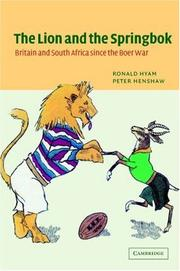 Cover of: The lion and the springbok | Ronald Hyam