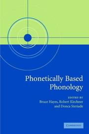 Cover of: Phonetically based phonology |