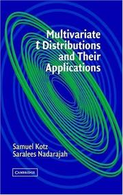 Cover of: Multivariate T-Distributions and Their Applications