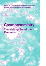 Cover of: Cosmochemistry |