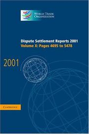 Cover of: Dispute Settlement Reports 2001 (World Trade Organization Dispute Settlement Reports) | World Trade Organization