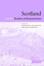 Cover of: Scotland and the borders of romanticism