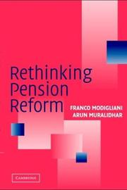 Cover of: Rethinking Pension Reform | Franco Modigliani