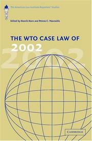 Cover of: The WTO Case Law of 2002 |
