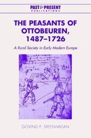Cover of: The Peasants of Ottobeuren, 14871726 | Govind P. Sreenivasan