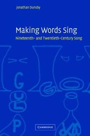 Cover of: Making Words Sing