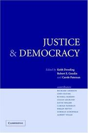 Cover of: Justice and democracy |