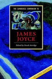 Cover of: The Cambridge Companion to James Joyce (Cambridge Companions to Literature)