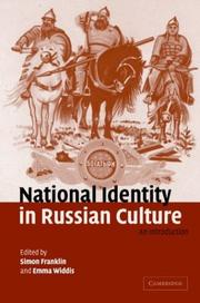 Cover of: National Identity in Russian Culture |