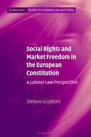 Cover of: Social Rights and Market Freedom in the European Constitution | Stefano Giubboni