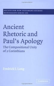 Cover of: Ancient Rhetoric and Paul