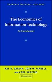 Cover of: The economics of information technology
