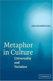 Metaphor in Culture by Zoltán Kövecses