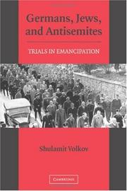 Germans, Jews, and Antisemites by Shulamit Volkov