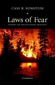 Cover of: Laws of Fear: Beyond the Precautionary Principle (The Seeley Lectures)
