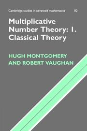 Cover of: Multiplicative Number Theory I | Hugh L. Montgomery