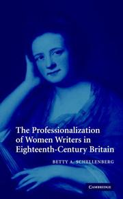 Cover of: The professionalization of women writers in eighteenth-century Britain