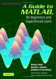Cover of: A Guide to MATLAB | Brian R. Hunt