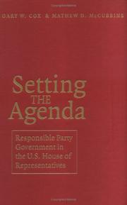 Cover of: Setting the agenda