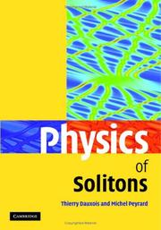 Physics of Solitons by Thierry Dauxois, Michel Peyrard