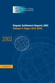Dispute Settlement Reports 2002 (World Trade Organization Dispute Settlement Reports)
