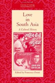 Cover of: Love in South Asia |
