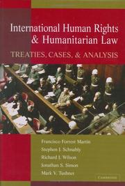 Cover of: International human rights & humanitarian law