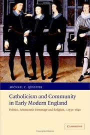 Cover of: Catholicism and community in early modern England | Michael C. Questier