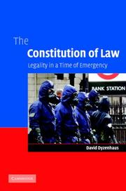 Cover of: The Constitution of Law | David Dyzenhaus