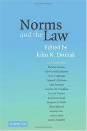 Cover of: Norms and the Law | John N. Drobak