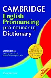 Cover of: Cambridge Pronouncing Dictionary