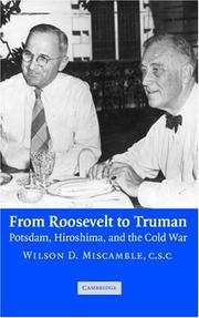 Cover of: From Roosevelt to Truman | Wilson D. Miscamble