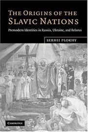 Cover of: The Origins of the Slavic Nations
