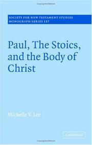 Cover of: Paul, the Stoics, and the Body of Christ | Michelle V. Lee