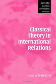 Classical Theory in International Relations (Cambridge Studies in International Relations)