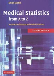 Cover of: Medical Statistics from A to Z | B. S. Everitt